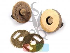 magnetické zapínání průměr 18mm - mosaz