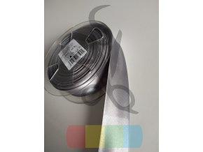 šikmý proužek saténový 30 mm založený - různé barvy