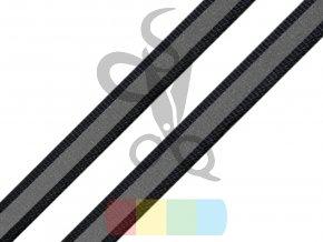 černá stuha s reflexní vrstvou - šíře 2 cm