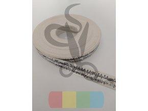 bavlněná stuha - 15 mm - noty