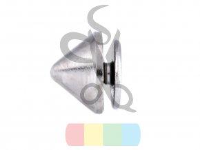 ozdobný nýt/nožky ke kabelce šroubovací - černý nikl