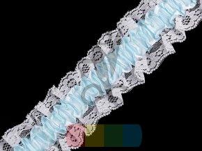 pružný volánek s krajkou na podvazky 65 mm - více barev