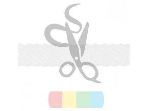pružná krajka 4 cm - bílá