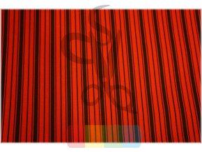 pruhy - černá, červená