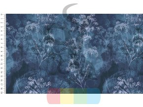 4730 viscose digital wild flowers 1107
