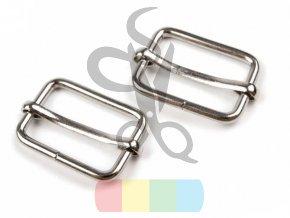 zkracovač kovový na popruhy 25 x 13 mm - stříbrný