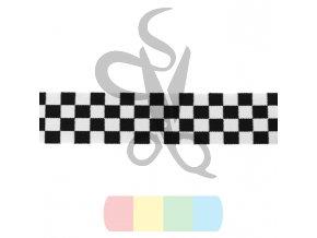 guma 40 mm - šachovnice - černobílá
