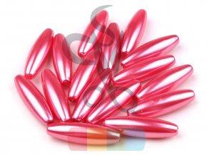 plastové korálky oválné 10 x 30 mm - různé barvy