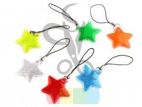 reflexní přívěšek hvězdička - více barev