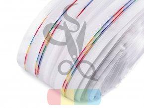 zip spirálový barevný v metráži - 5 mm - bílý