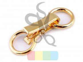 zapínání ozdobné na kabelku 60 x 21 mm zlaté