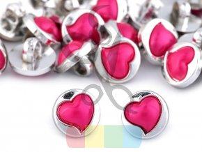 Dekorační knoflík srdce - více barev