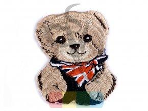 nažehlovačka - hnědý medvídek