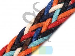 splétaný popruh, šíře 18 mm multicolor