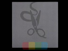 vyšívací mřížka plastová čtverec