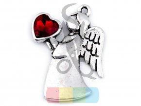 přívěšek - anděl se srdcem