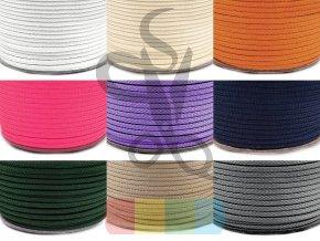 Oděvní šnůra 4 mm - více barev