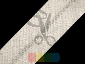 šikmý proužek 40 mm založený - různé barvy