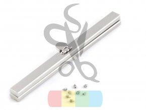 rámeček na výrobu kabelky 1 x 19 cm vkládací - stříbrný