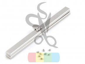 rámeček na výrobu kabelky 1x19 cm vkládací - stříbrný
