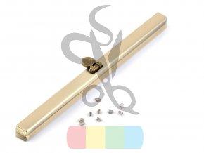 rámeček na výrobu kabelky 1 x 19 cm vkládací -  mosaz