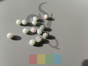 korálky 10 mm barevné - více barev - 5 ks