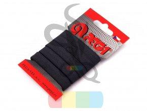 guma prádlová - pruženka 10,6 mm - návin 5 m - černá