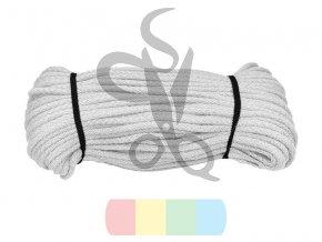 bavlněná šnůra 5 mm - více barev