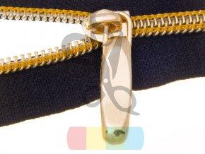 suwak do tasmy suwakowej spiralnej 5 non lock zloto polysk (2)