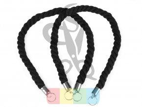 bavlněné ucho na tašku 70 cm - černé