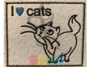 nášivka I love cats