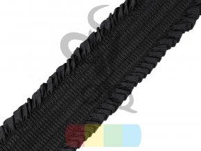pruženka řasená  48 mm - černá