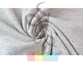 teplákovina jednobarevná - světle šedý melír
