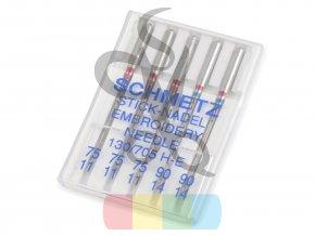Jehly strojové SCHMETZ stick nadel - pro vyšívání metalickou a speciální nití