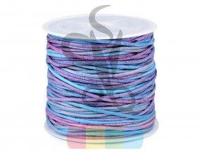 bavlněná šnůra 1 mm duhová - návin 20 metrů - více barev