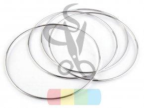 kovový kruh 8 cm  - stříbrný