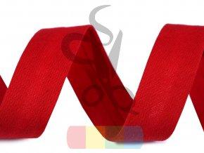 šikmý proužek elastický 20 mm založený červený