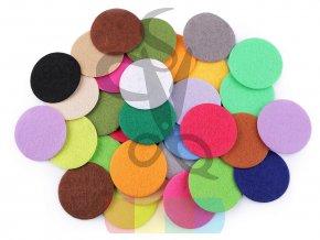 filcové kolečko - průměr 4 cm - mix barev - balení 10 kusů
