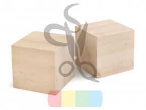 Dřevěná kostka - 4 x 4 cm