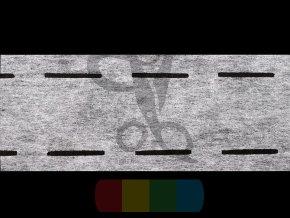 perforovaný pásek zažehlovací 10-35-10 mm - bílý