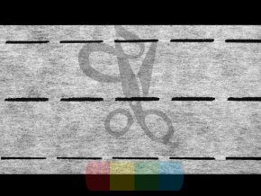 perforovaný pásek zažehlovací dvojitý 10-35-35-10 mm - bílý