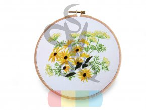 sada na vyšívání - žluté květy