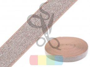 pruženka s lurexem 30 mm - více barev