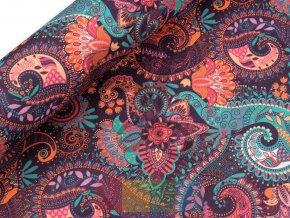 bavlna s polyesterem - ornamenty