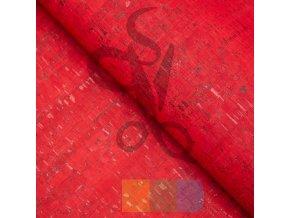 korek - korková látka - červenooranžová