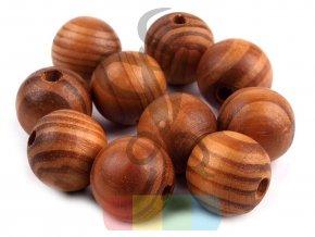 dřevěné korálky pr.20 mm - hnědé