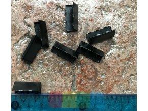 zakončení kovové 20 mm, barva černá