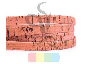 korkový pásek 10 mm světlounce růžový