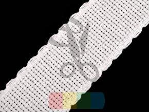 pásek pro vyšívání - kanavný pás/zoubkovka - 70 mm