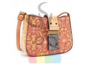 kabelka korková - vzor paisley